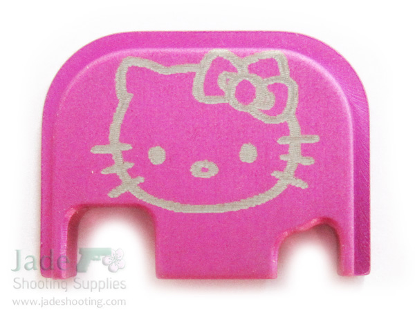 rock your glock pink hello kitty custom slide cover plate